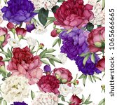 seamless floral pattern with... | Shutterstock .eps vector #1065666665