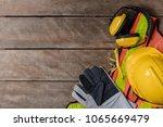 standard construction safety... | Shutterstock . vector #1065669479