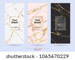packaging premium box design... | Shutterstock .eps vector #1065670229