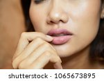 extreme close up of sensual... | Shutterstock . vector #1065673895