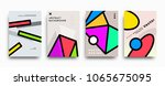 covers templates set with... | Shutterstock .eps vector #1065675095