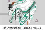 geometric abstract background... | Shutterstock .eps vector #1065675131