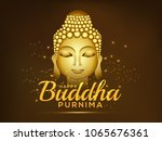 illustration of buddha purnima... | Shutterstock .eps vector #1065676361