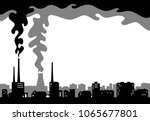 illustration of a dark city and ... | Shutterstock .eps vector #1065677801