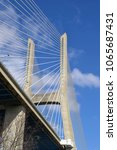 vasco da gama bridge in lisbon  ... | Shutterstock . vector #1065687431