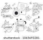 illustrations set. coffee... | Shutterstock .eps vector #1065693281