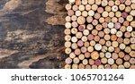 Wine Corks Background. Copy...
