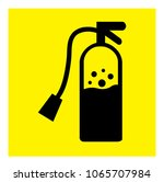 fire extinguisher icon vector | Shutterstock .eps vector #1065707984