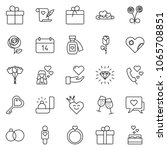 thin line icon set   rose... | Shutterstock .eps vector #1065708851