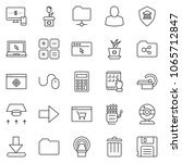 thin line icon set   web camera ... | Shutterstock .eps vector #1065712847