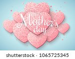 greeting card on happy mother's ... | Shutterstock .eps vector #1065725345