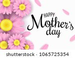 happy mother's day. greeting... | Shutterstock .eps vector #1065725354