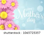 happy mother's day. greeting... | Shutterstock .eps vector #1065725357