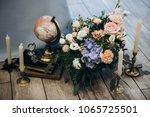 wedding decoration and wedding... | Shutterstock . vector #1065725501