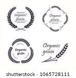set of agriculture wheat logos. ... | Shutterstock .eps vector #1065728111