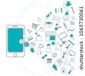 social media marketing | Shutterstock .eps vector #1065730061