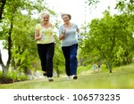 portrait of two senior females... | Shutterstock . vector #106573235