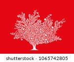 beautiful decorative leafy tree ... | Shutterstock .eps vector #1065742805