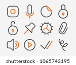 set of line styled vector icons ...
