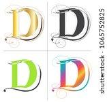 letters d alphabet font vector... | Shutterstock .eps vector #1065752825