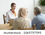 friendly smiling lawyer... | Shutterstock . vector #1065757595