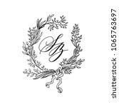design element of wedding... | Shutterstock .eps vector #1065763697