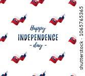 banner or poster of slovakia... | Shutterstock .eps vector #1065765365