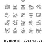 birthday well crafted pixel... | Shutterstock .eps vector #1065766781