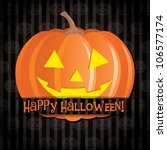 jack o lantern happy halloween... | Shutterstock .eps vector #106577174