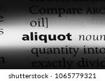 Small photo of aliquot word in a dictionary. aliquot concept.