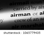 Small photo of airman word in a dictionary. airman concept.