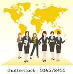 group of business woman team | Shutterstock .eps vector #106578455