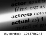 actress word in a dictionary.... | Shutterstock . vector #1065786245