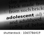 adolescent word in a dictionary.... | Shutterstock . vector #1065786419