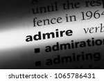 admire word in a dictionary.... | Shutterstock . vector #1065786431