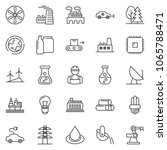 thin line icon set   factory... | Shutterstock .eps vector #1065788471