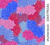 floral summer seamless | Shutterstock .eps vector #1065790181