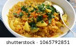 red lentil stew with potato ... | Shutterstock . vector #1065792851