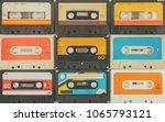 assortment of different vintage ... | Shutterstock . vector #1065793121