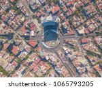 aerial panoramic top view of... | Shutterstock . vector #1065793205