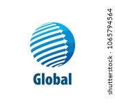 vector logo globe | Shutterstock .eps vector #1065794564