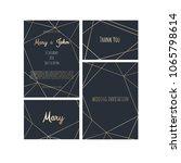wedding invitation  invite card ... | Shutterstock .eps vector #1065798614