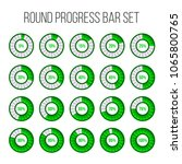 vector illustration of round...