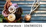 miscellaneous ice cream cone in ...   Shutterstock . vector #1065803231