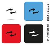 reset button  reload arrows... | Shutterstock .eps vector #1065811121