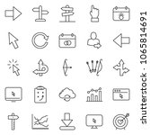 thin line icon set   chart... | Shutterstock .eps vector #1065814691