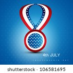 4th july badge ribbon of... | Shutterstock .eps vector #106581695