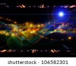 design made of abstract sine... | Shutterstock . vector #106582301