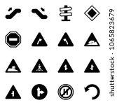 solid vector icon set  ... | Shutterstock .eps vector #1065823679