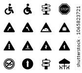 solid vector icon set  ... | Shutterstock .eps vector #1065823721